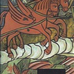 Folk glass-painting in romania
